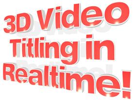 Tvorba 3D video titulků v reálném čase